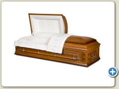 Rental Oak / Rosetan Crepe w/ Alternative Container (cremation only)